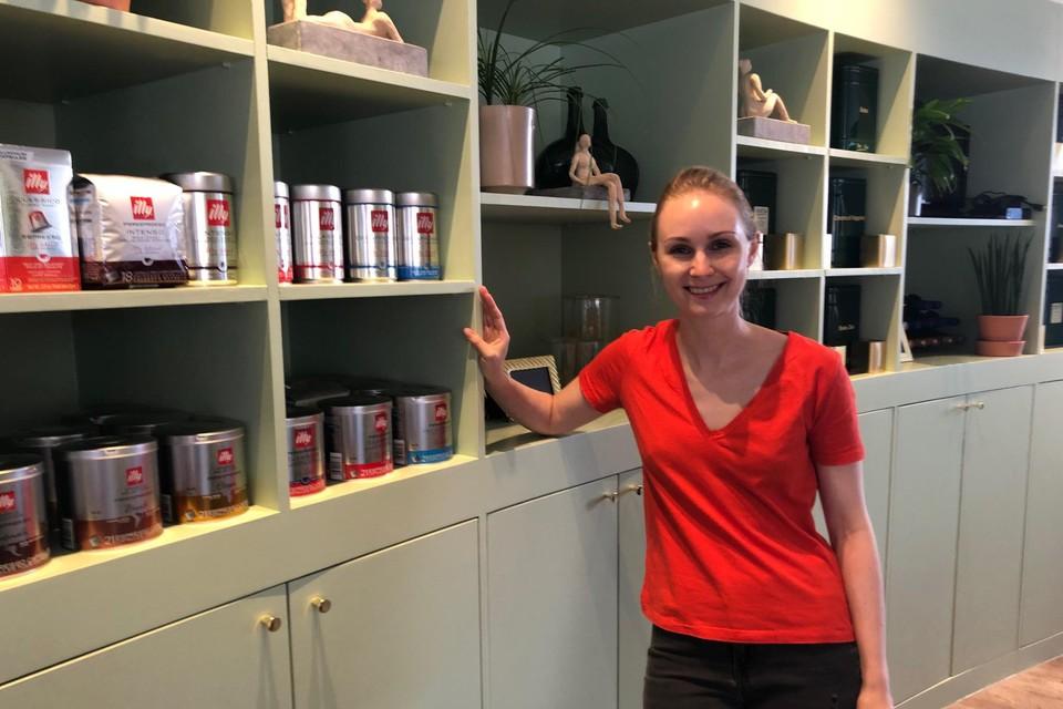 Emilie Van Den Eynden, uitbaatster van Illy, is blij dat de zaak weer fonkelt.