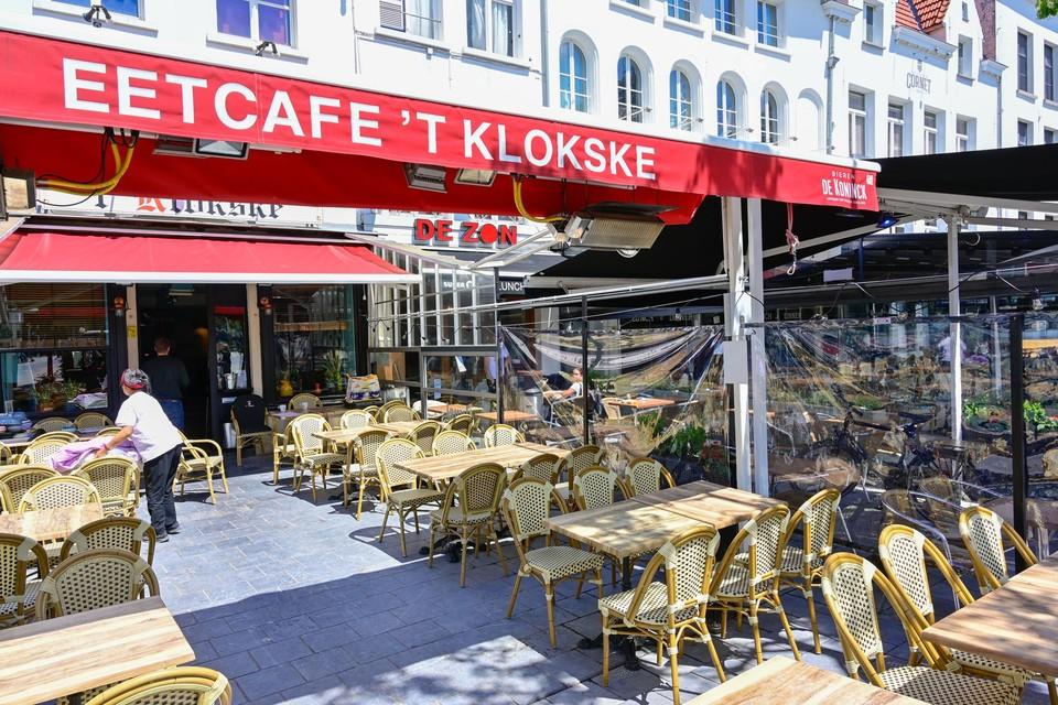 Archiefbeeld van terrassen op de Groenplaats in Antwerpen.