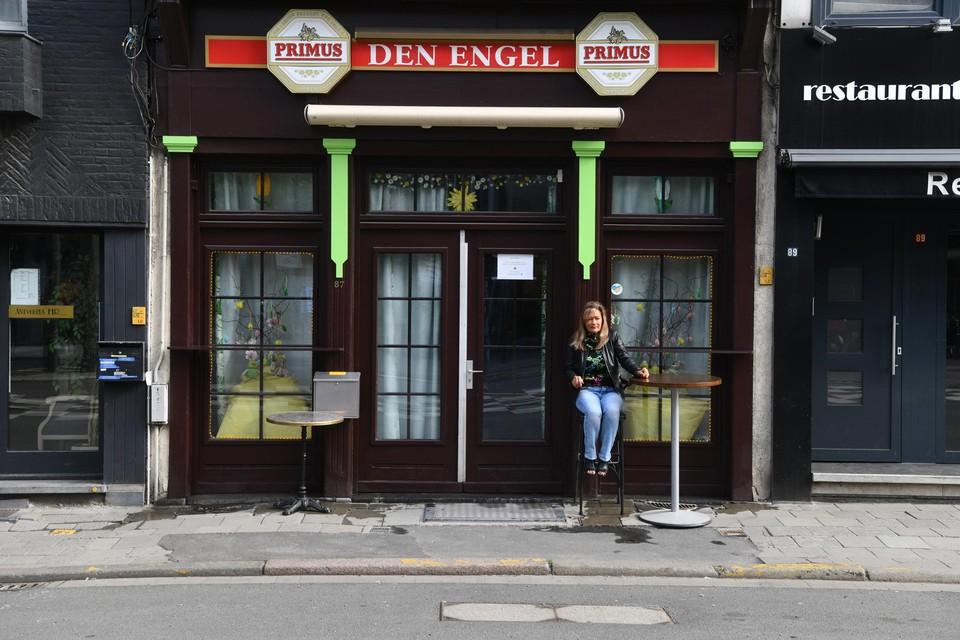 Café Den Engel op de Sint-Jacobsmarkt in Antwerpen.