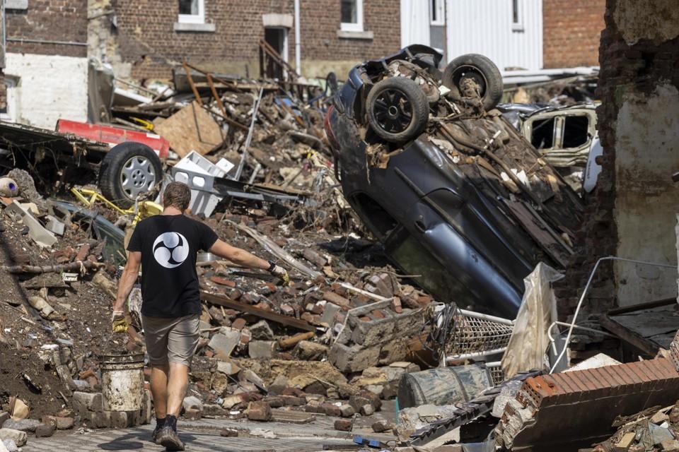 Schade is enorm door de overstromingen in Pepinster.