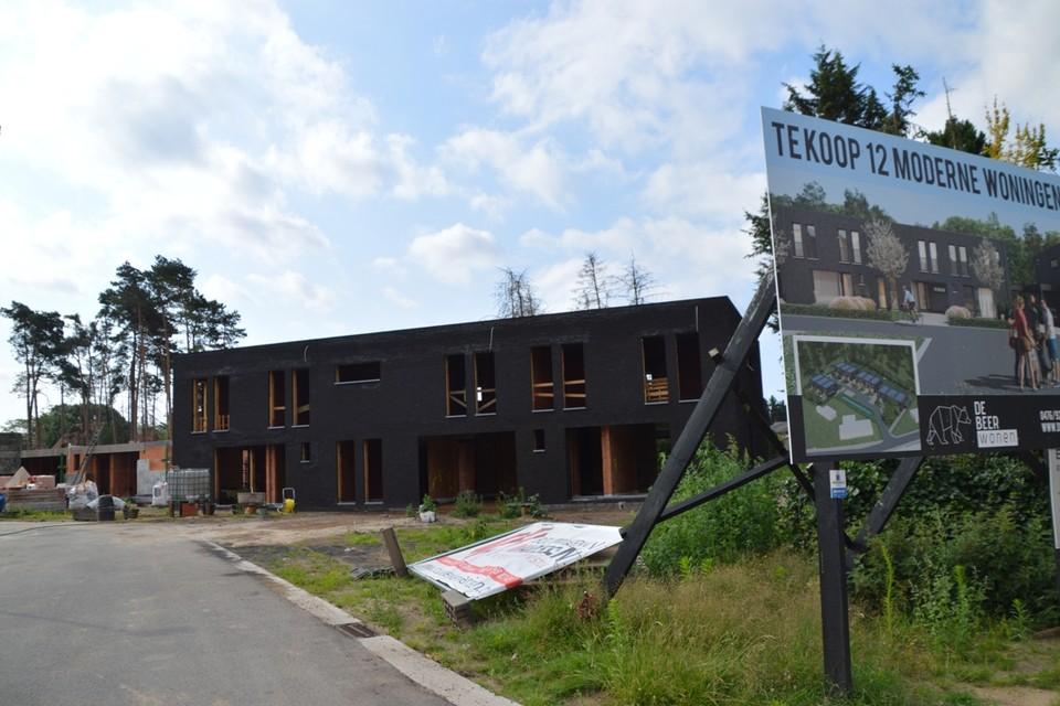 De halfopen bebouwingen aan de Tuimelaar van een privé-projectontwikkelaar, waarvan op drie huizen in het kader van 'betaalbaar wonen' een korting van 20% op de grondprijs wordt gegeven. Maar zelfs dan kosten ze meer dan 400.000 euro.
