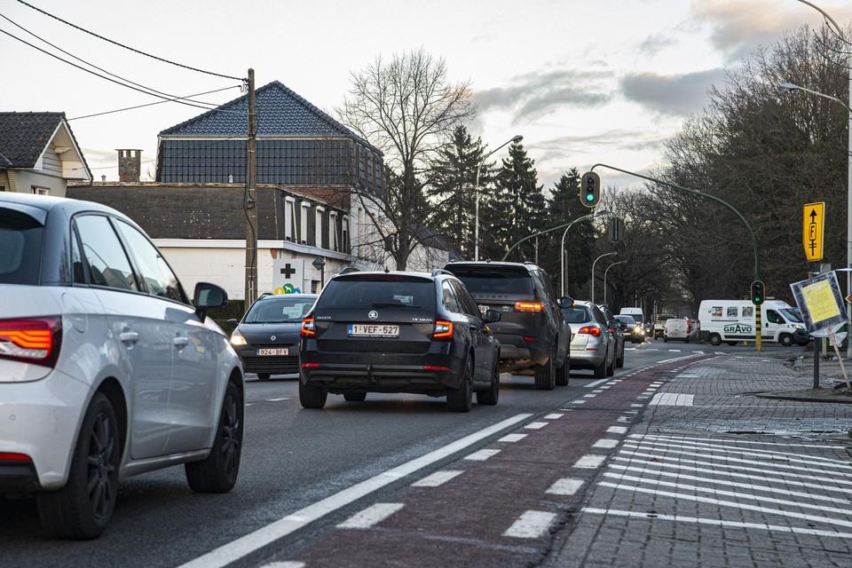 De Lierse Steenweg in Grobbendonk.