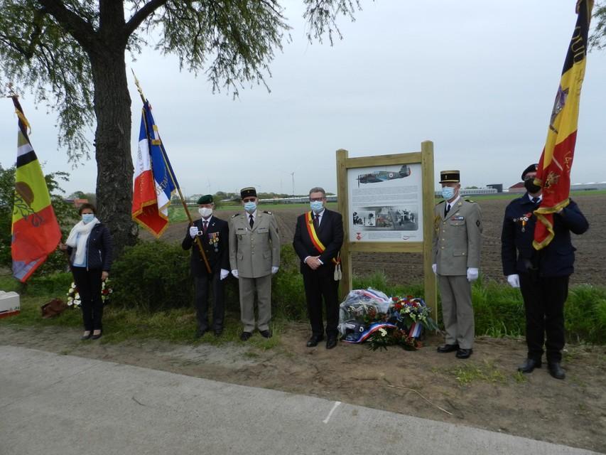 Het herdenkingsbord is het derde op Hoogstraats grondgebied.