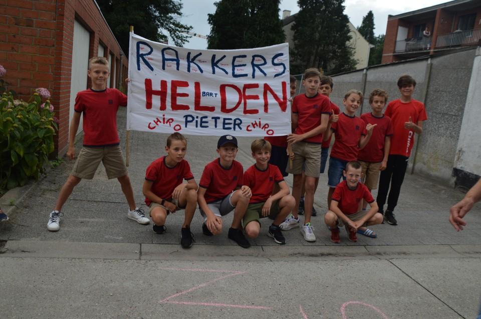 Pieter is chiroleider, dus de jeugdbeweging mocht ook niet ontbreken.