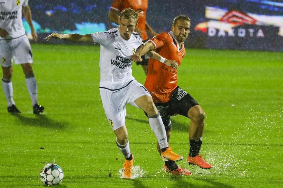 Jellert Van Landschoot in oktober tegen Deinze, ook vanavond de tegenstander.