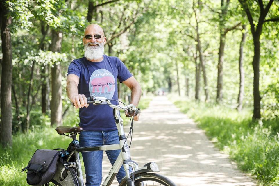 Patrick Verhoeven, de charmante gastheer uit: ook op de fiets .