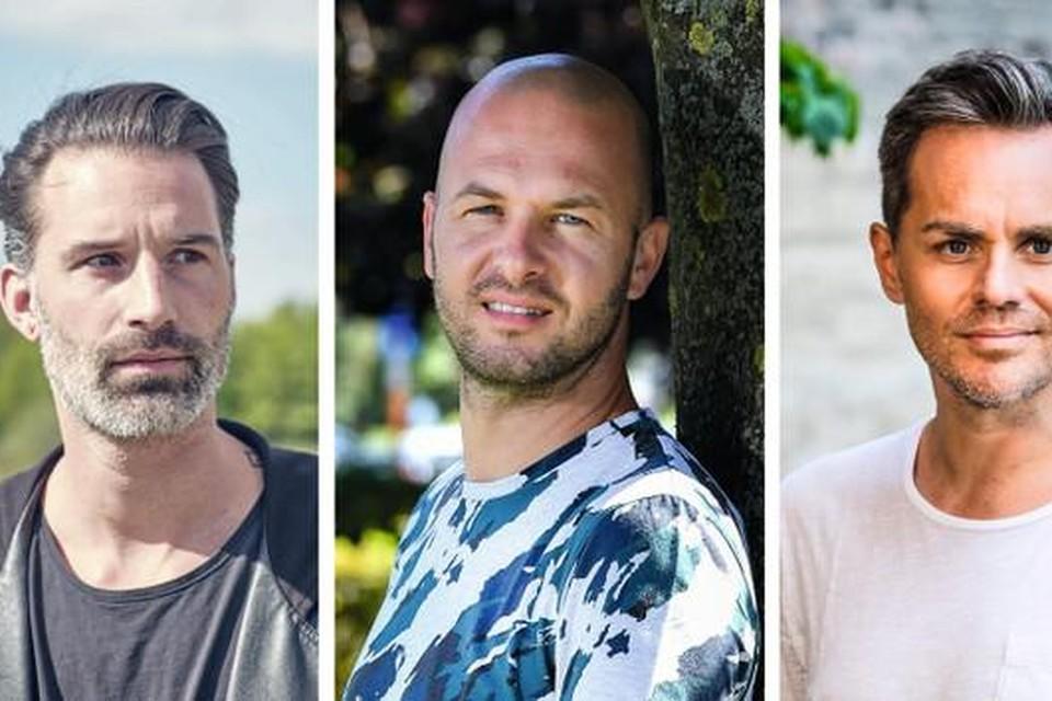 Sean Dhondt, Stan Van Samang en Peter Van de Veire.
