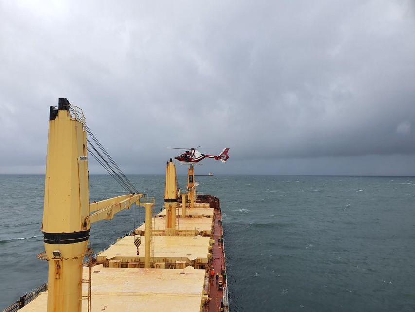 Beelden van de onderschepping van het schip.