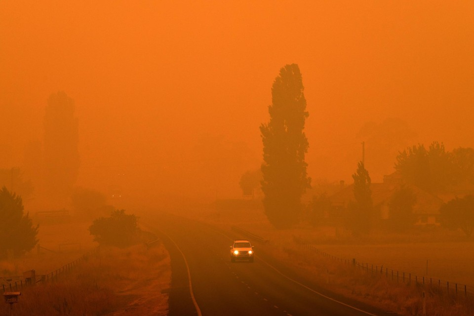 Door klimaatverandering aangewakkerde bosbranden zorgden onder meer in Australië voor apocalyptische beelden.