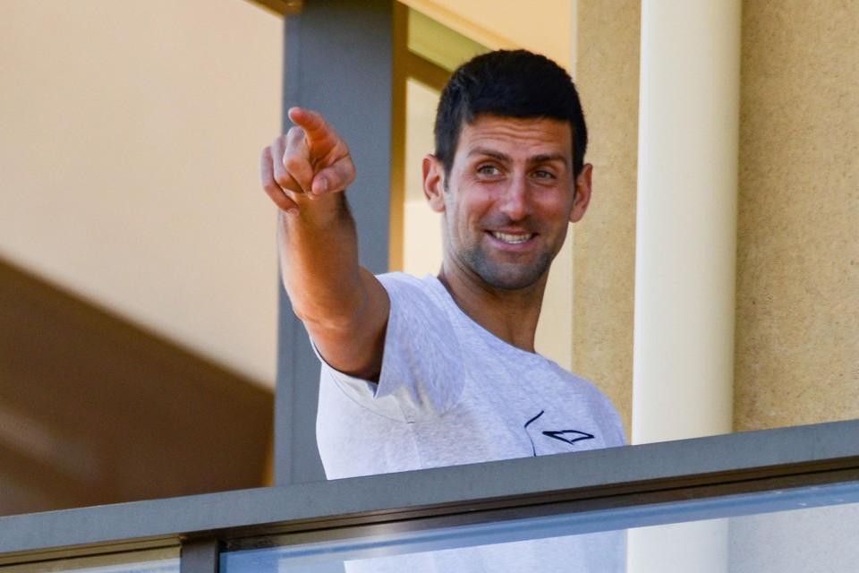 Djokovic houdt de moed erin.