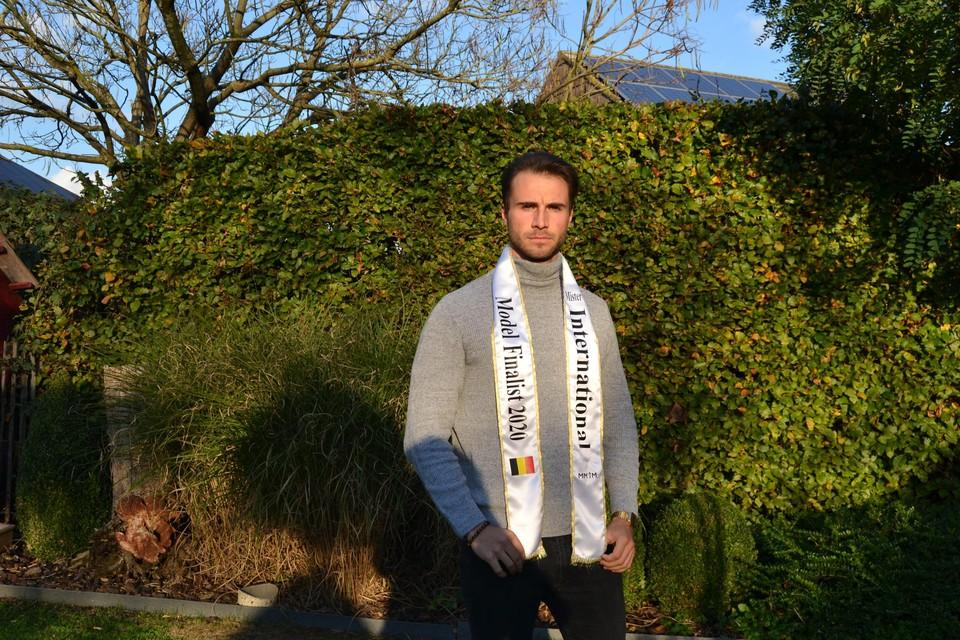 Sander Van Dessel (26) uit Kessel (Nijlen) is een van de twintig finalisten van de MMI-modellenwedstrijd.