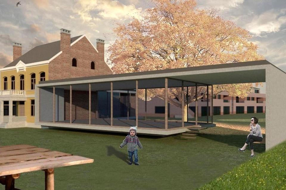 Het voorstel van Bercohof over hoe het Berkenhof er in de toekomst kan uitzien.