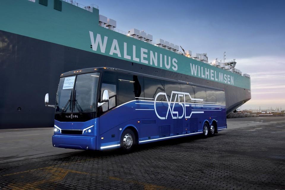 In december werd de eerste volledig elektrische touringcar van Van Hool naar de VS verscheept.