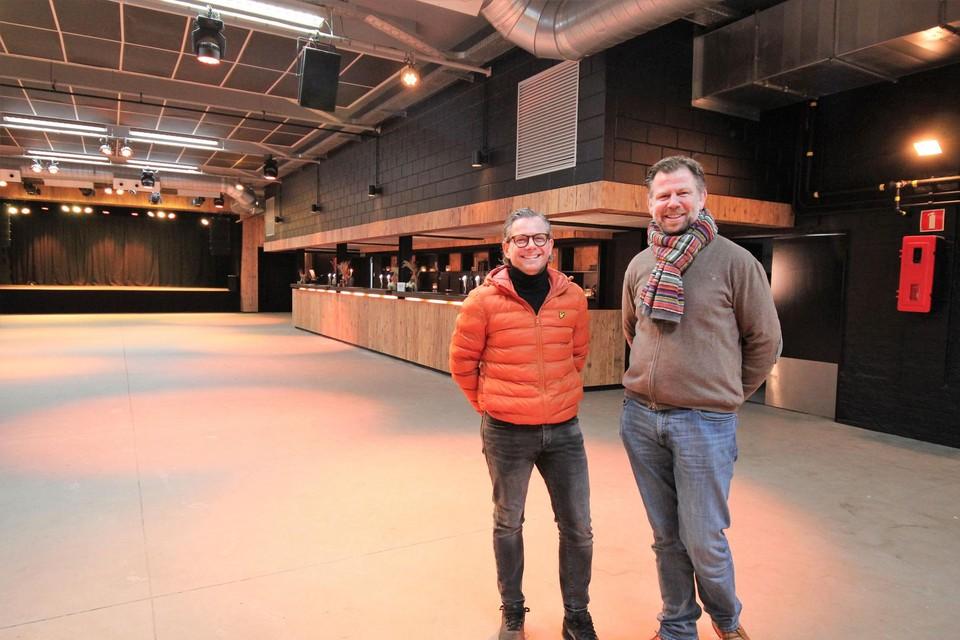 Dimitri Segers en Olivier Goossens in de vernieuwde Hangar 27