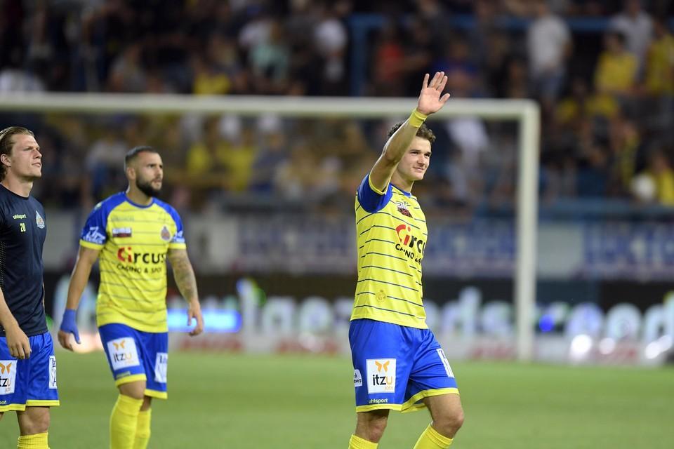 Louis Verstraete in het shirt van Waasland-Beveren.