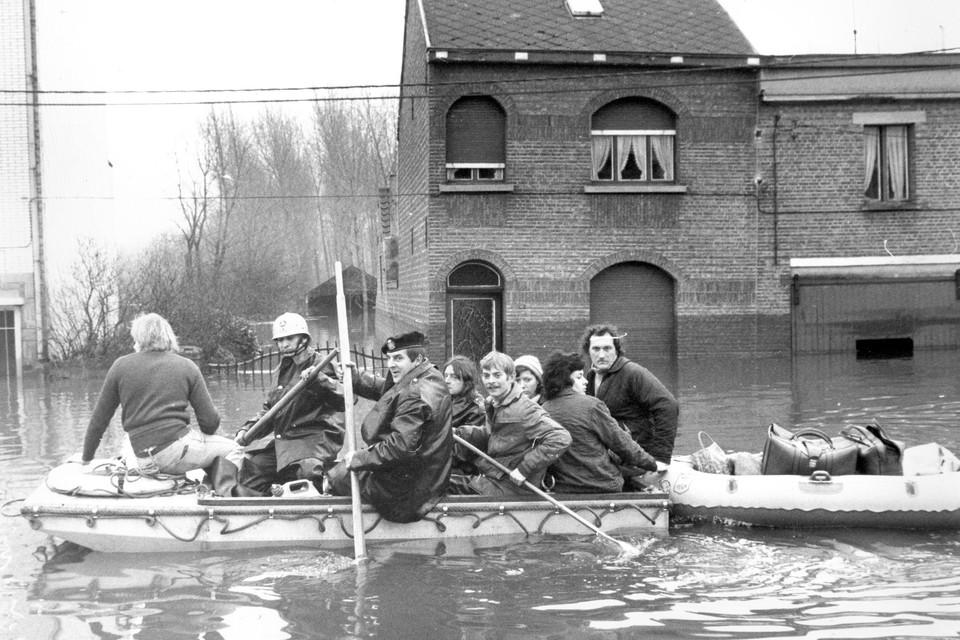 De overstromingen in Ruisbroek in 1976.