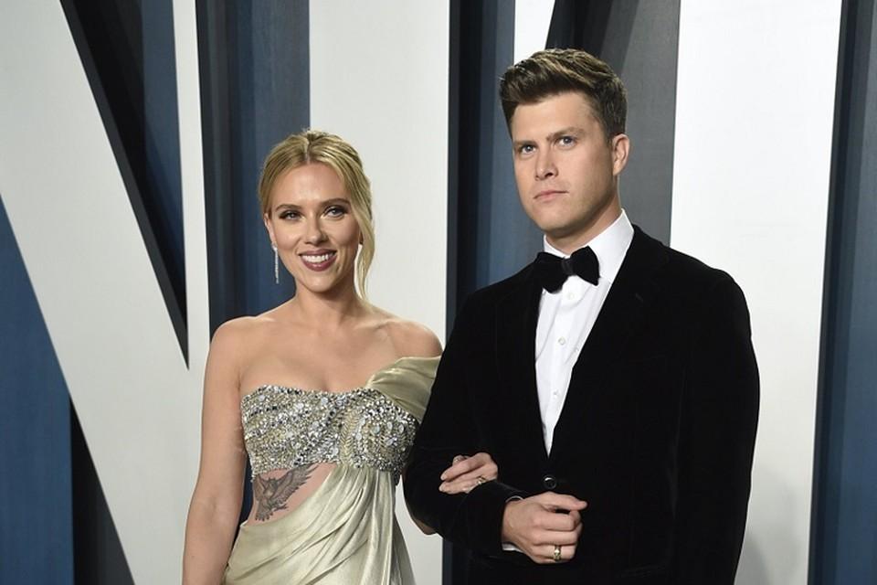 Scarlett Johansson en Colin Jost