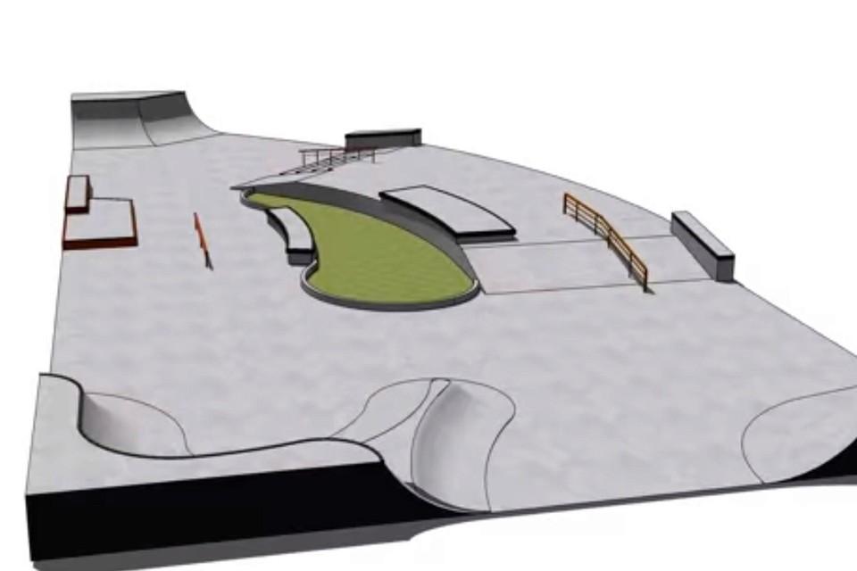 De voorstelling van het nieuwe skatepark in Hove.