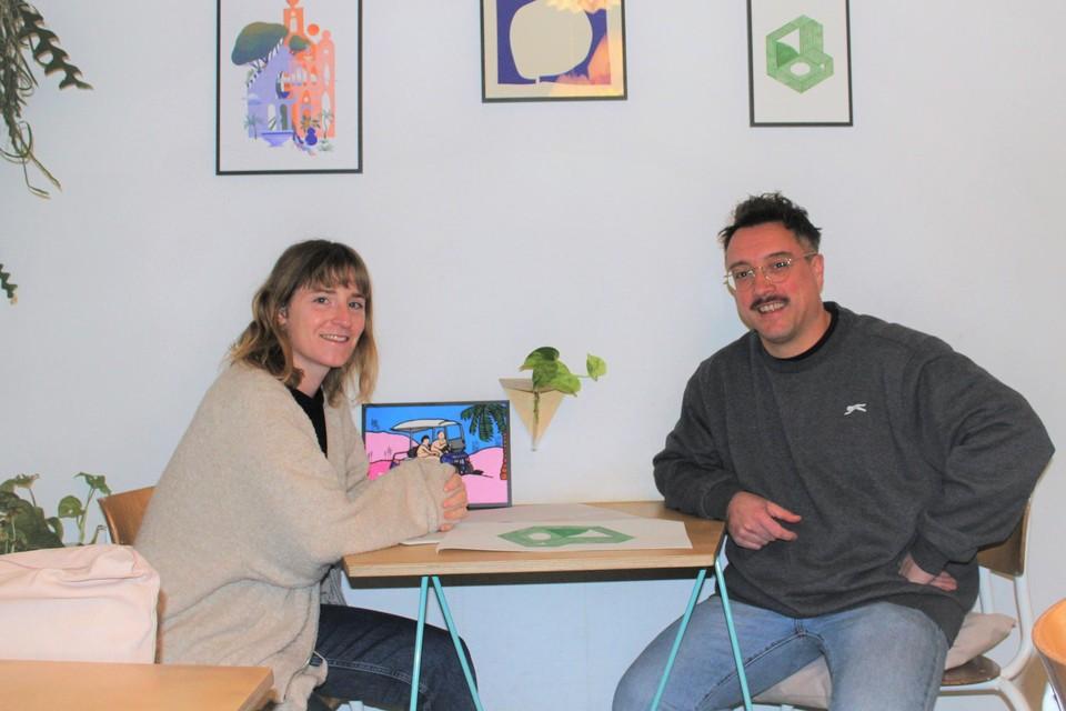 Jolijn Gyssels en Bart Lenaerts startten het platform BuroMuro voor grafisch vormgevers.