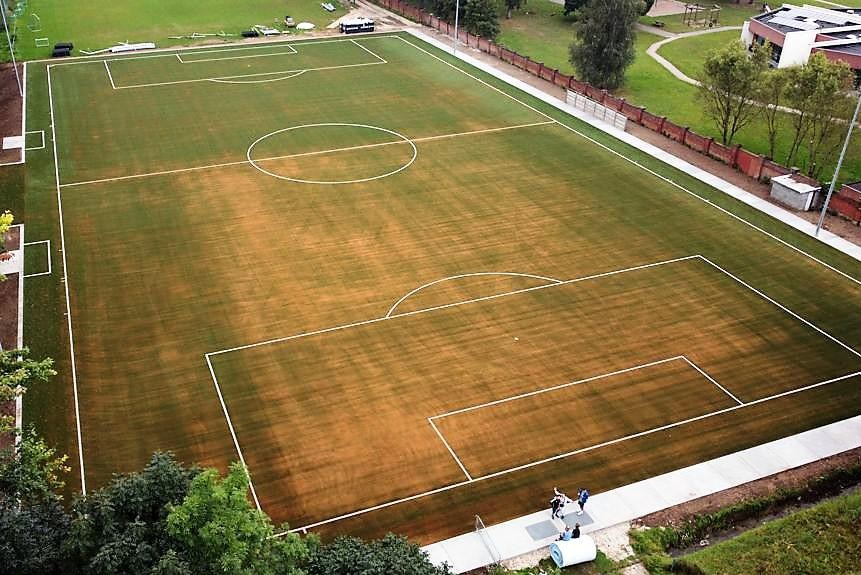 Het veld wordt langzaam groen. De kurk raakt beter verspreid.