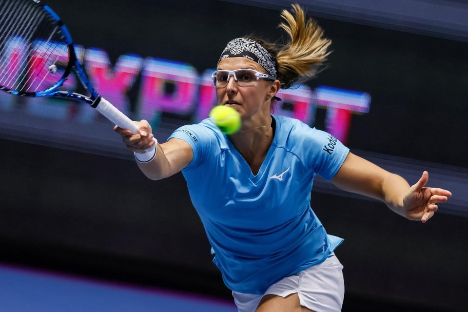"""Een vervelende enkelblessure houdt Kirsten Flipkens voorlopig van de tennisbaan. """"Ik hoop topfit te geraken tegen Wimbledon."""""""