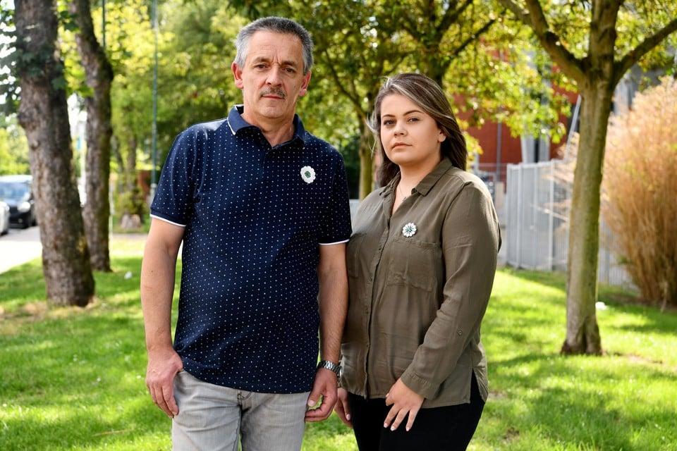 Safet Botonjic en zijn dochter Medina.