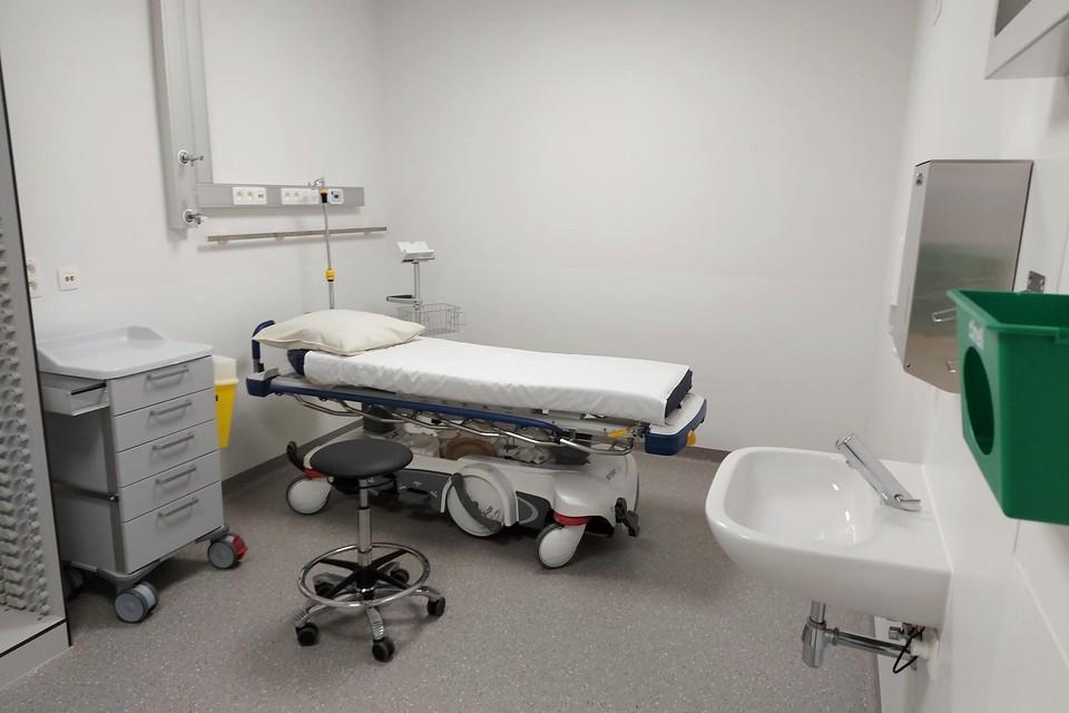 Een van de triagekamers.