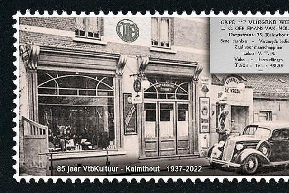 Postzegel voor 85 jaar vtbKultuur Kalmthout