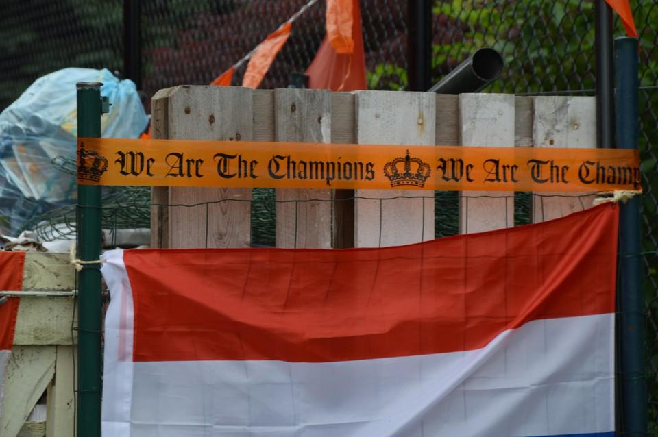 We are the champions hangt nog aan de poort.