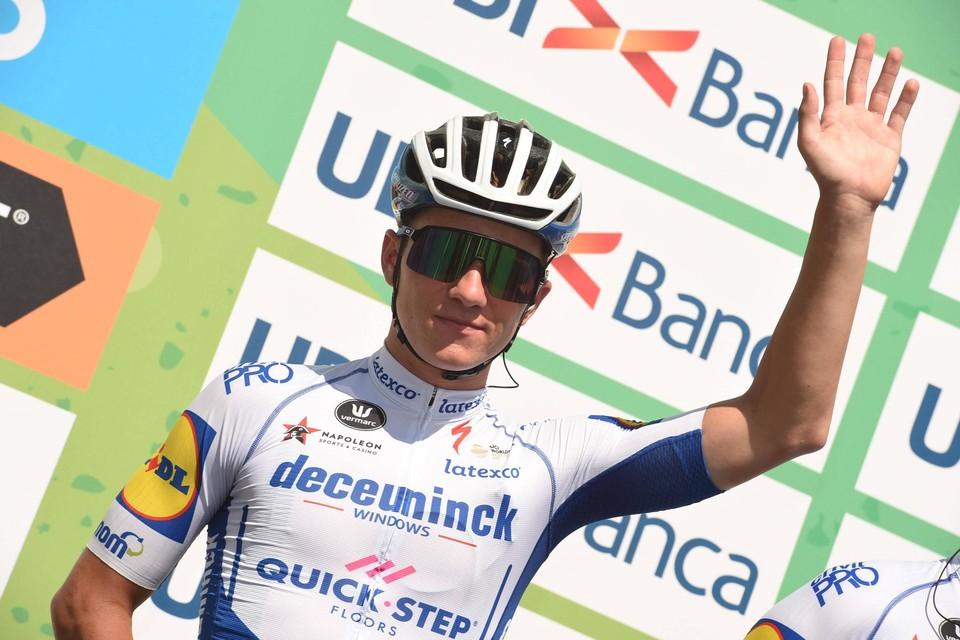 Evenepoel voor de start van de Ronde van Lombardije, de koers waarin hij zijn bekken brak in augustus 2020.