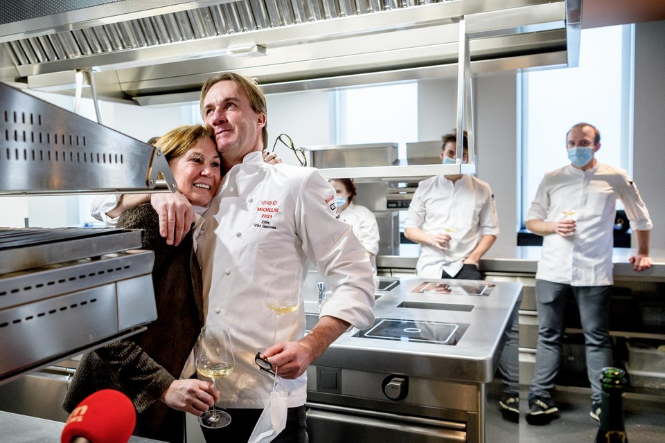 Viki Geunes in de keuken van Zilte.