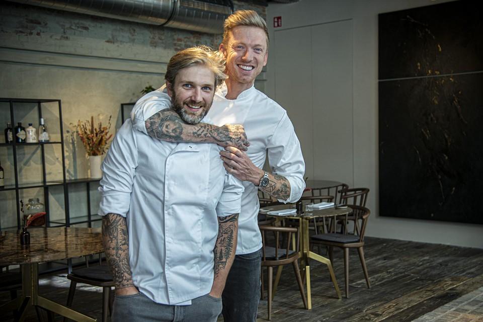 Lars Block, chef-kok van Bink, en bezieler Alex Verhoeven.