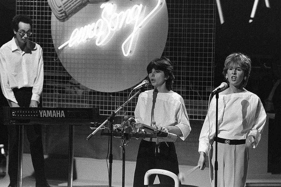 Pas de Deux, met Walter Verdin links, tijdens het Eurovisiesongfestival in 1983.