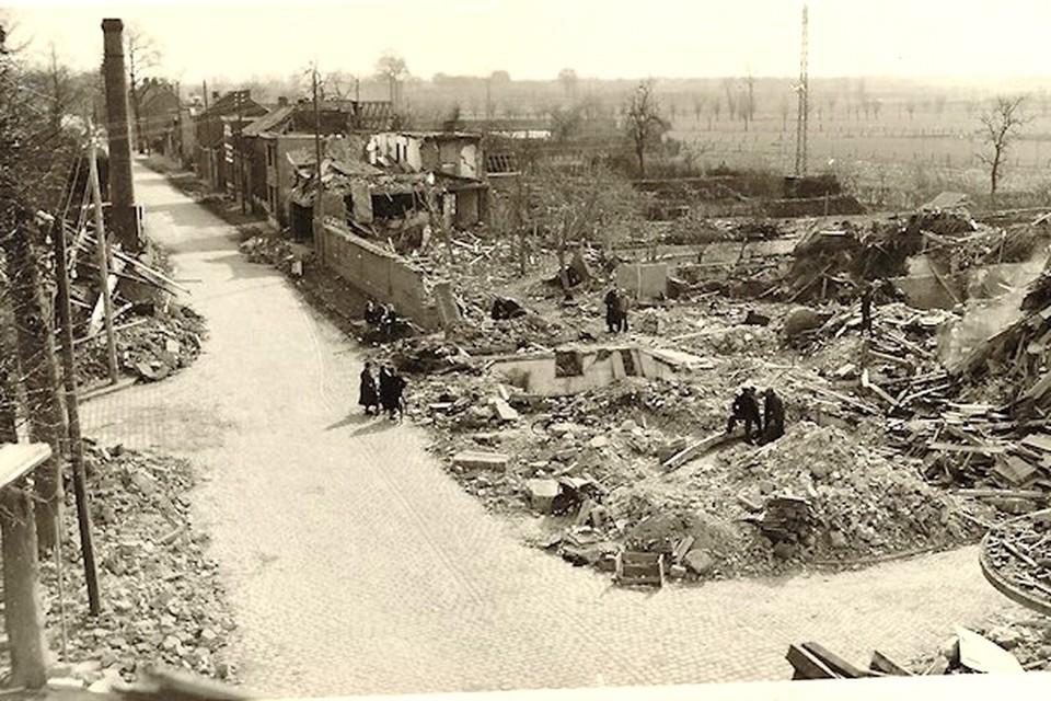 Heel wat huizen in Essen zijn tot puin herleid door de bominslag.