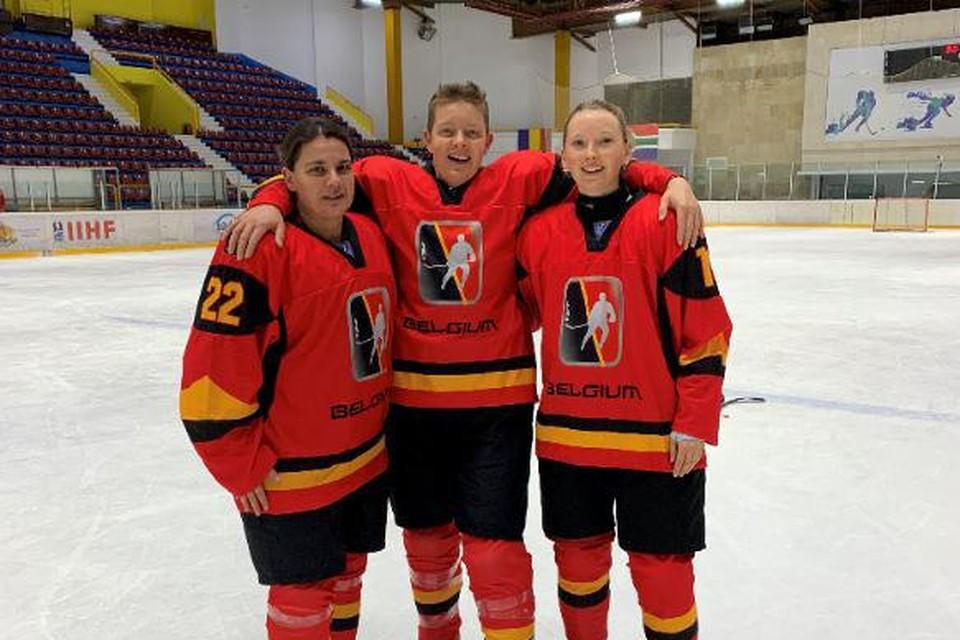 Nadine Leirs, Petra Horemans en Cato Boon bij de Belgian Blades.