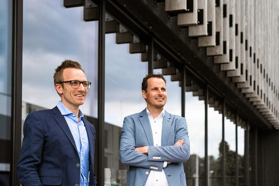 Stijn Dirken (rechts) en zijn operationeel manager Jef Dens hebben vertrouwen in de toekomst.