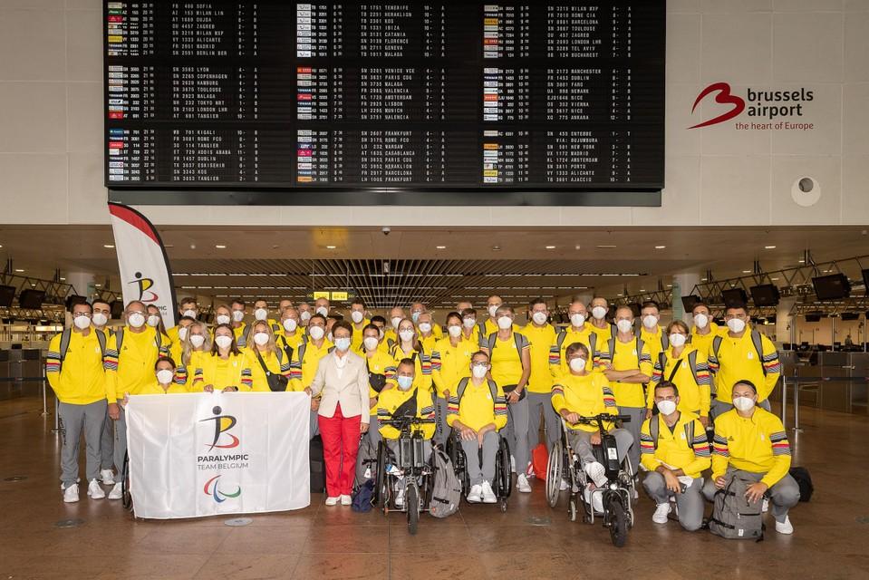 Team Belgium voor afreis naar Tokio