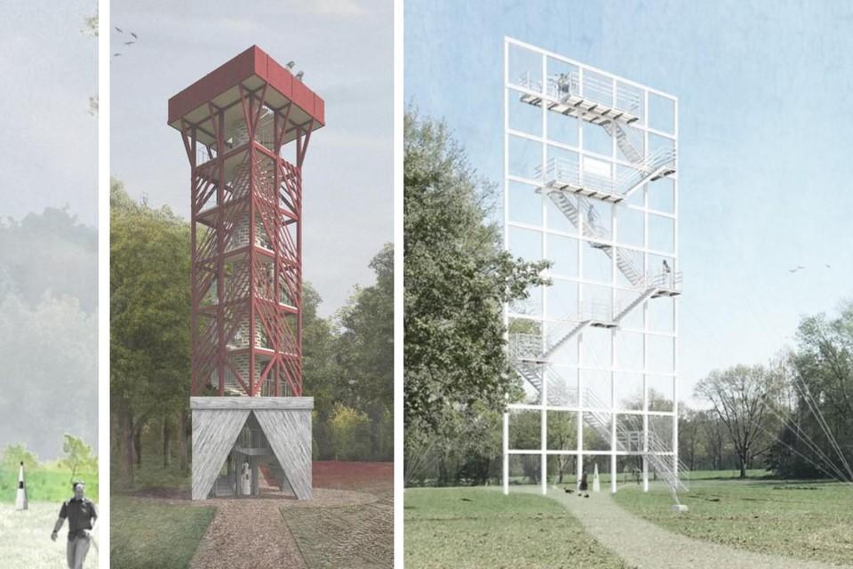 Zo zou de toren er kunnen uitzien, maar de inwoners van Stekene en Hulst bepalen mee het definitieve uiterlijk van de uitkijktoren.