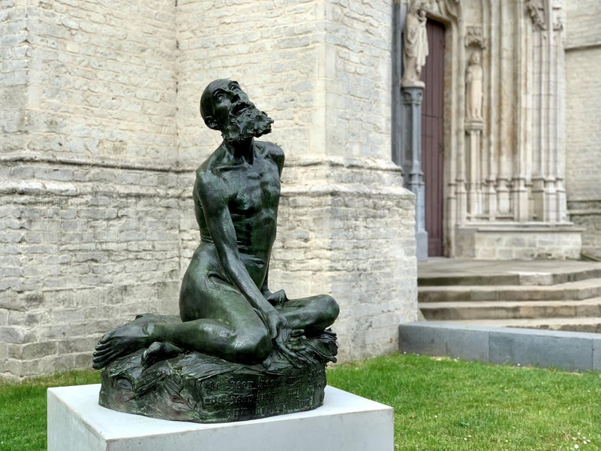 'Job op de mesthoop' is voortaan te vinden aan de Onze-Lieve-Vrouw-over-de-Dijlekerk.