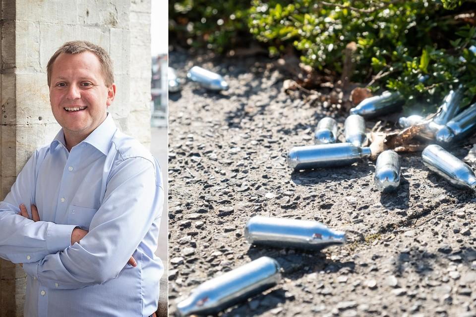 Bij controles treft de politie regelmatig capsules van lachgas aan. Gemeenteraadslid in Sint-Niklaas Karel Noppe vroeg de cijfers op bij de politie.