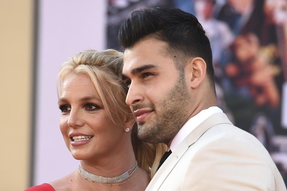 Britney Spears en haar verloofde Sam Asghari.
