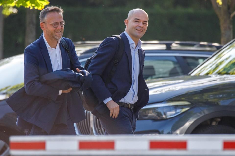 Peter Croonen (links, Genk)en Peter Willems (OHL)