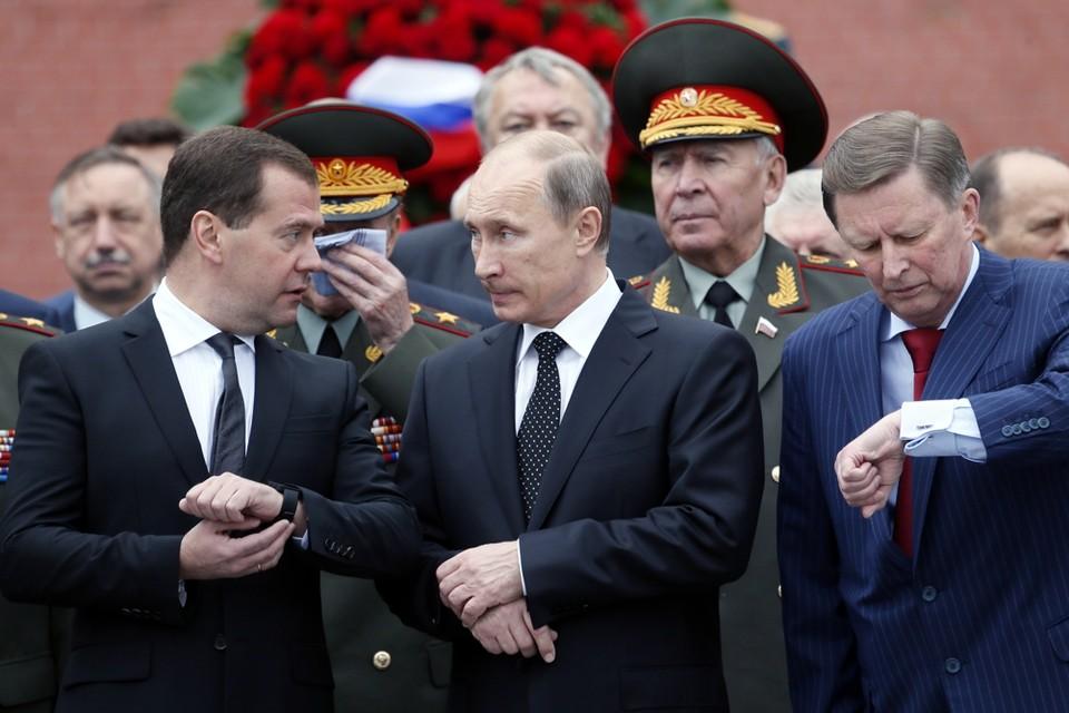 Medvedev en Poetin zullen de macht nog niet snel opgeven.