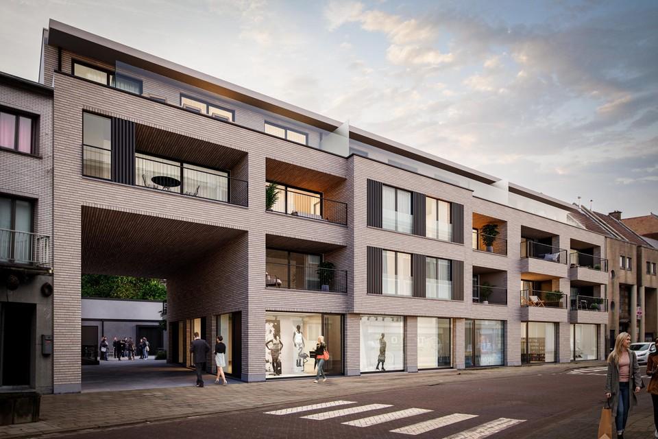 In de Lemanstraat komt een complex met appartementen en handelsruimtes.