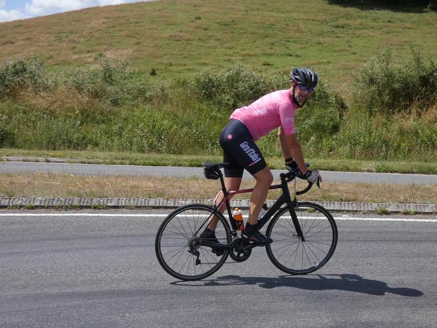 Dirk onderweg naar de top.