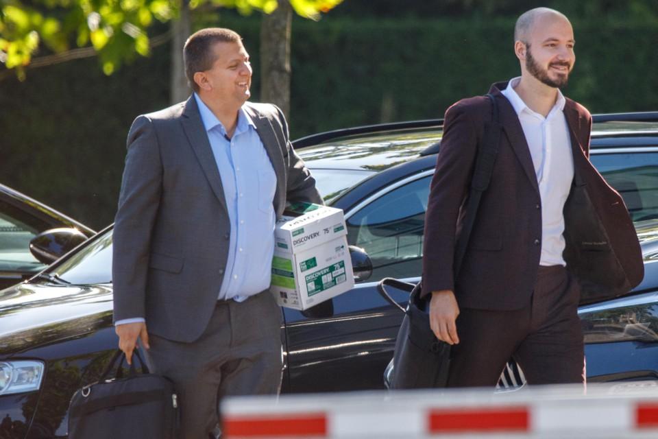 Licentiemanager Nils Van Branteghem (links) en Leander Monbaliu, Head of Legal van de Pro League.