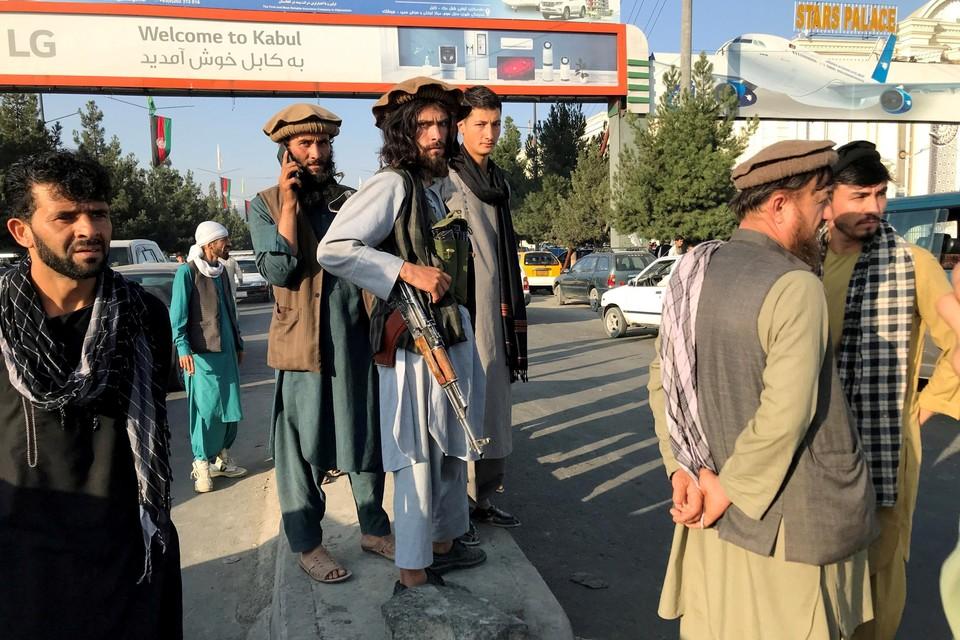 De taliban in Kaboel.