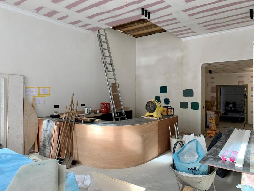 За последние месяцы в здании проделали большой объем работ.