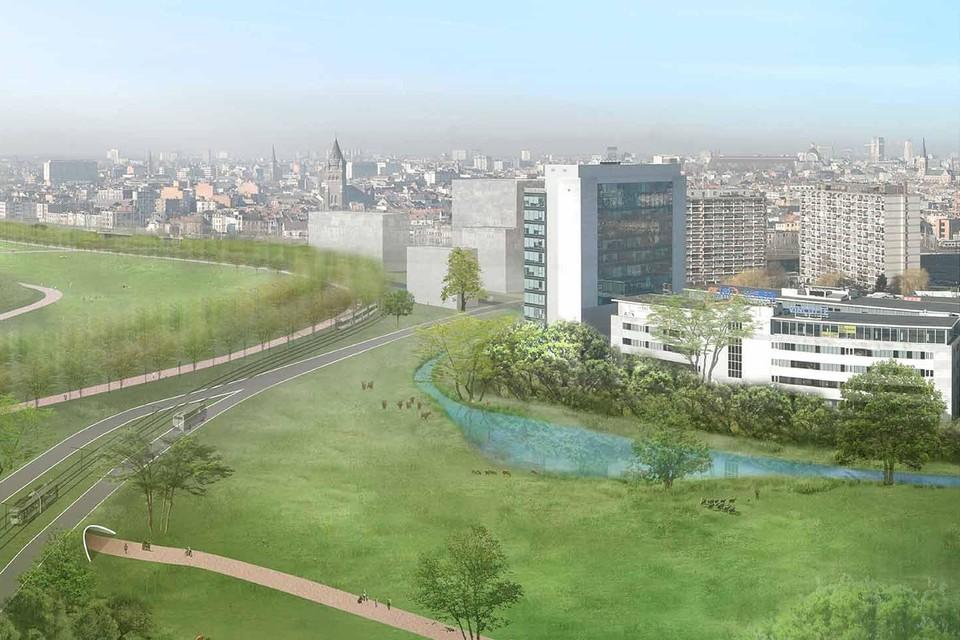 Zo wordt het toekomstige Ringpark Groene Vesten.