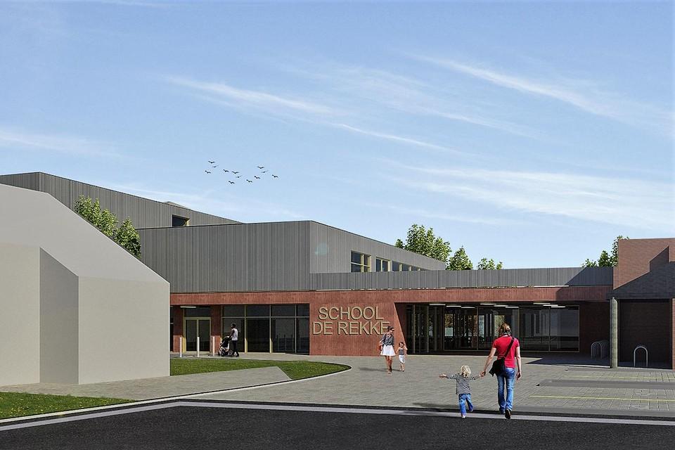 Een simulatie van de vernieuwde basisschool De Rekke.